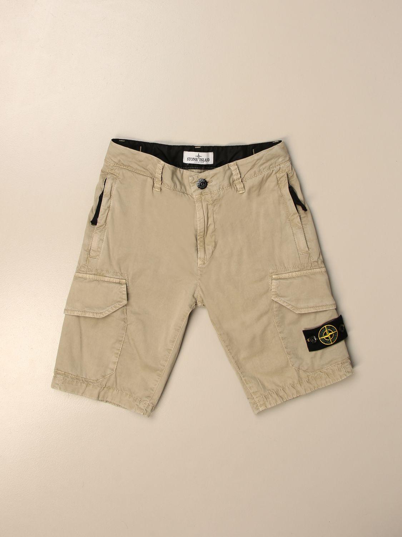 Pantaloncino Stone Island Junior: Bermuda Kargo Stone Island Junior in cotone beige 1