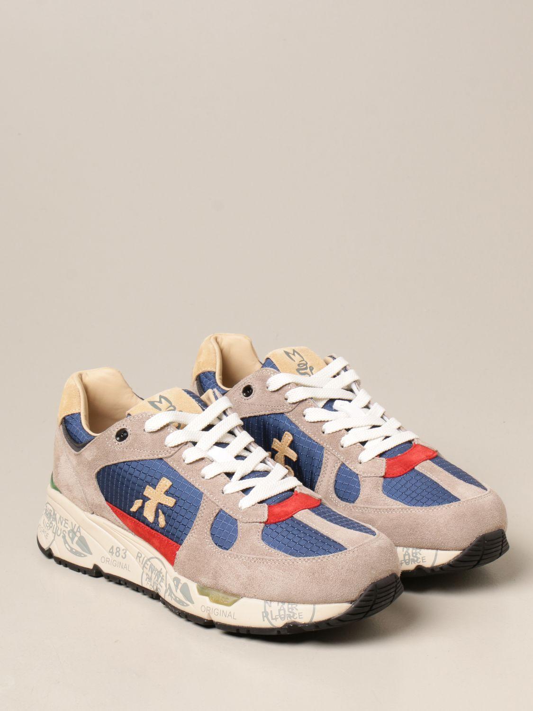 Sneakers Premiata: Sneakers Mase Premiata in camoscio e tessuto a quadri blue 2