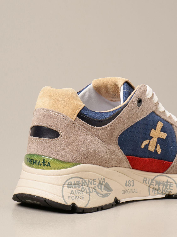 Sneakers Premiata: Sneakers Mase Premiata in camoscio e tessuto a quadri blue 3