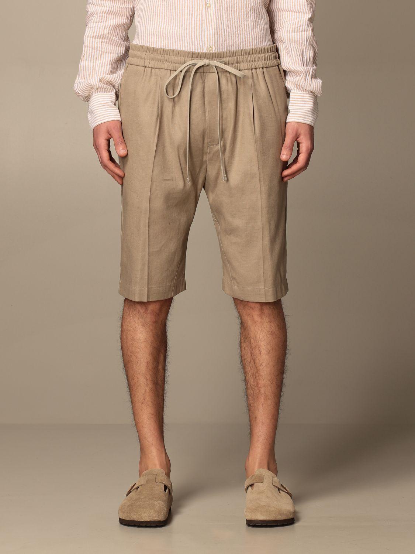 Pantalones cortos Paolo Pecora: Pantalones cortos hombre Paolo Pecora beige 1
