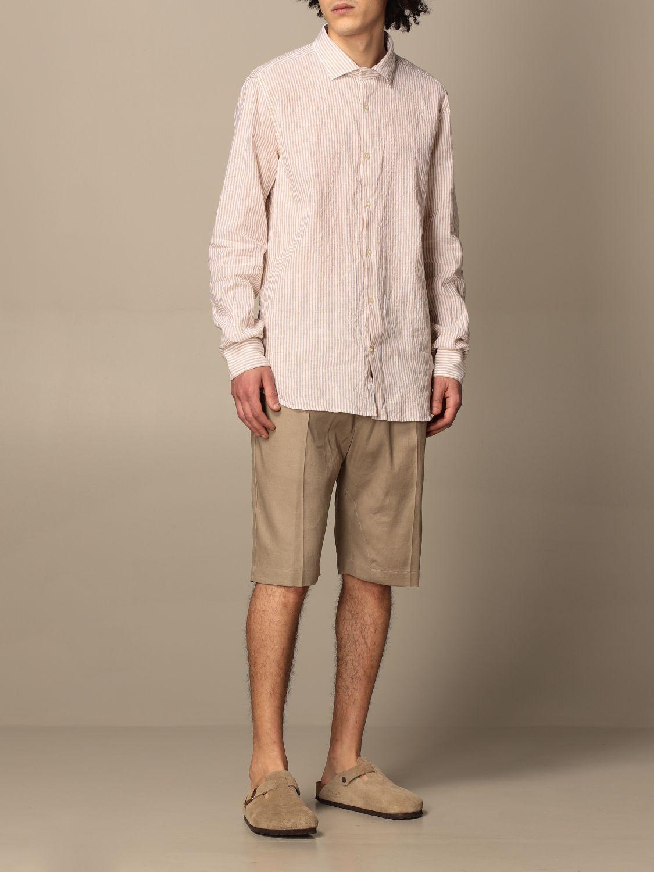 Pantalones cortos Paolo Pecora: Pantalones cortos hombre Paolo Pecora beige 2