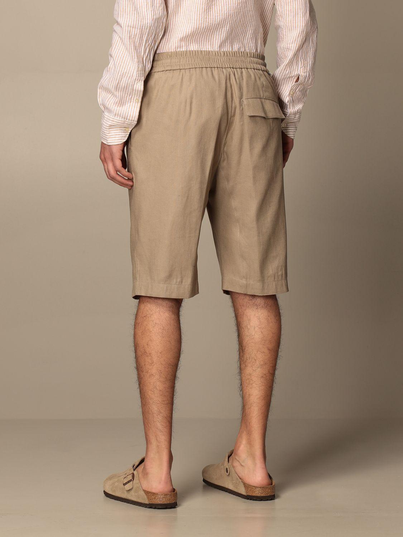 Pantalones cortos Paolo Pecora: Pantalones cortos hombre Paolo Pecora beige 3
