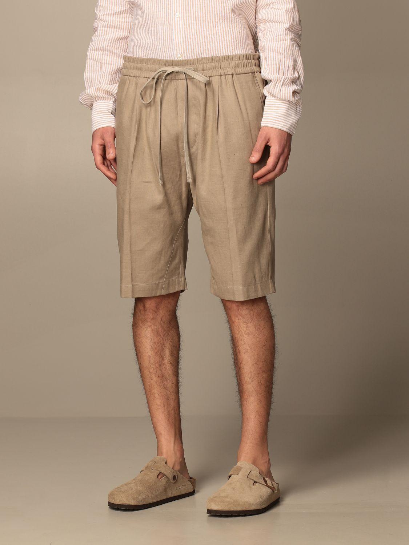 Pantalones cortos Paolo Pecora: Pantalones cortos hombre Paolo Pecora beige 4