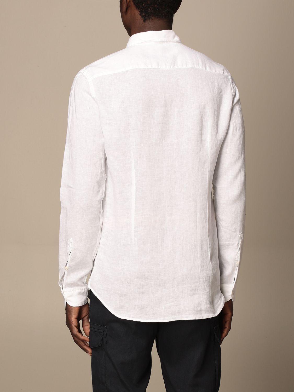 Camicia Fay: Camicia Fay in lino con collo francese bianco 2