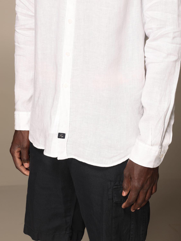 Camicia Fay: Camicia Fay in lino con collo francese bianco 3