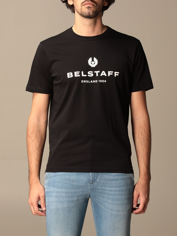 T-shirt Belstaff: T-shirt Belstaff in cotone con stampa logo nero 1