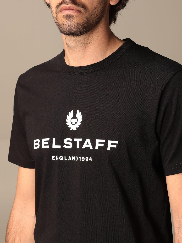 T-shirt Belstaff: T-shirt Belstaff in cotone con stampa logo nero 3