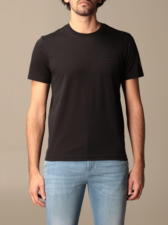 T-shirt Belstaff: T-shirt Belstaff basic con logo nero 1