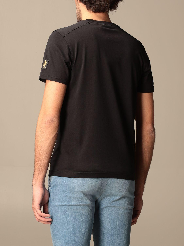 T-shirt Belstaff: T-shirt Belstaff basic con logo nero 2