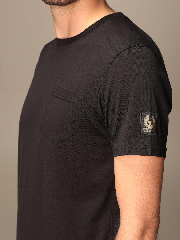 T-shirt Belstaff: T-shirt Belstaff basic con logo nero 3