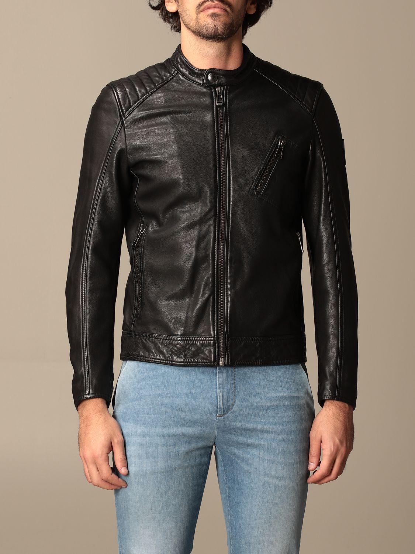 Jacket Belstaff: Belstaff leather jacket with zip black 1