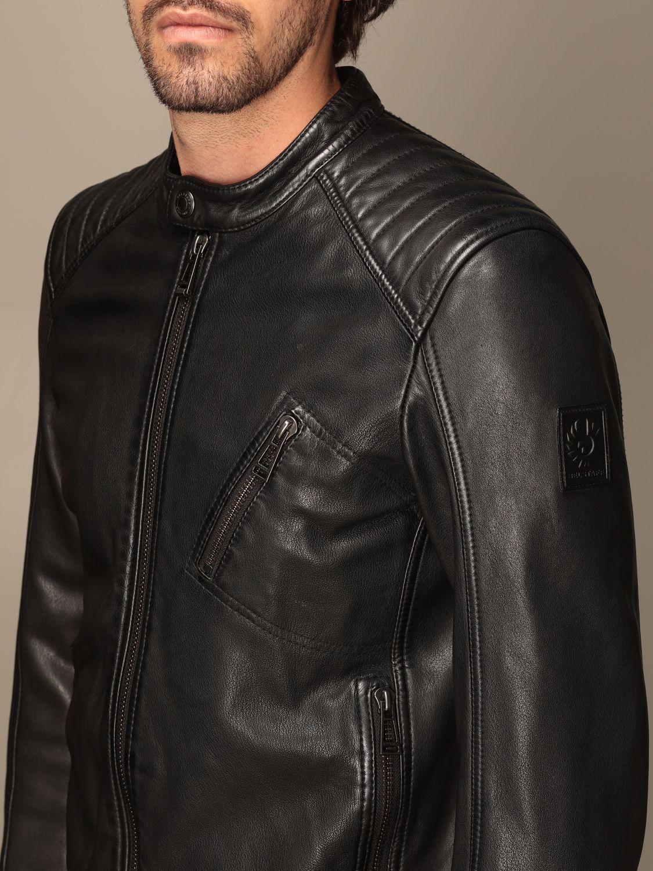 Jacket Belstaff: Belstaff leather jacket with zip black 4
