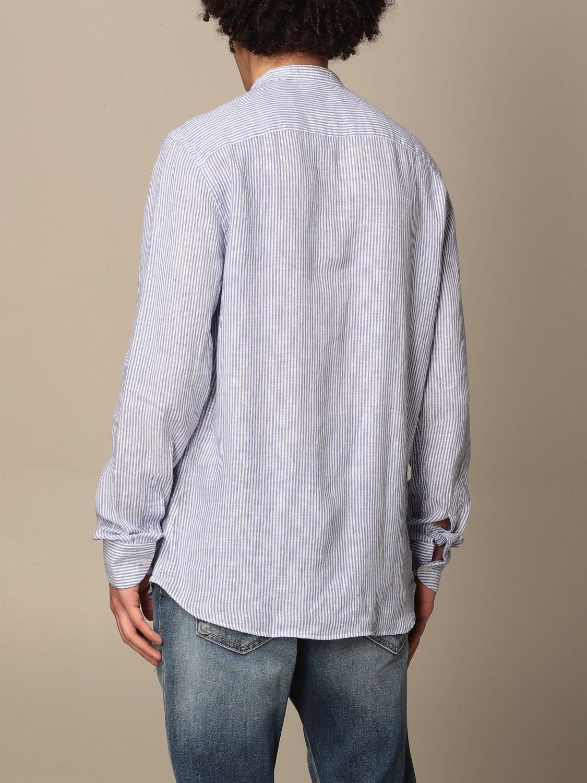 Shirt An American Tradition: Brooklyn BD Baggies shirt in micro-striped linen navy 2