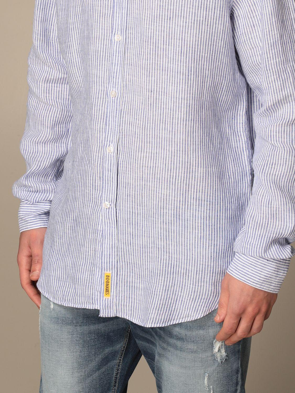 Shirt An American Tradition: Brooklyn BD Baggies shirt in micro-striped linen navy 3