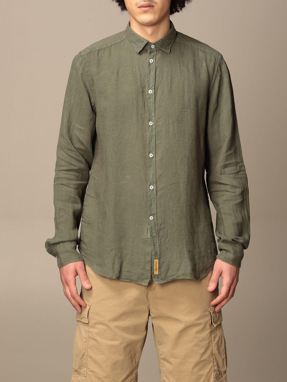 Shirt An American Tradition: Brooklyn BD Baggies shirt in garment dyed linen green 1