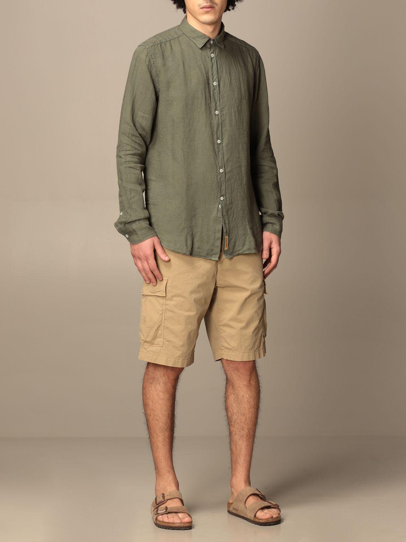 Shirt An American Tradition: Brooklyn BD Baggies shirt in garment dyed linen green 2