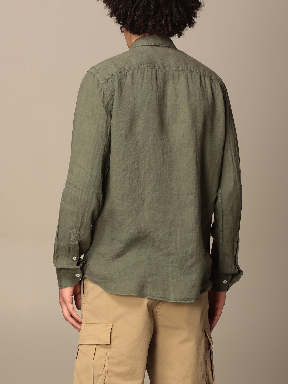 Shirt An American Tradition: Brooklyn BD Baggies shirt in garment dyed linen green 3