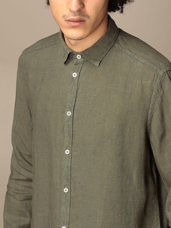 Shirt An American Tradition: Brooklyn BD Baggies shirt in garment dyed linen green 4