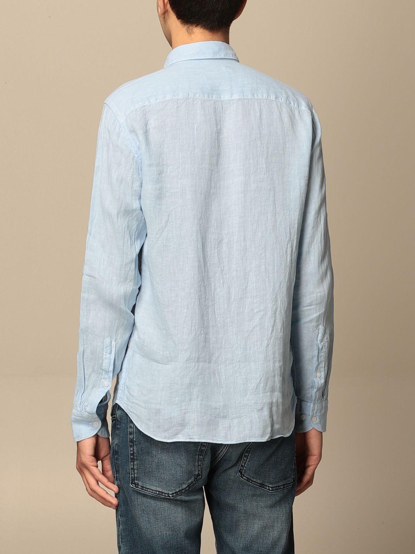 Camicia An American Tradition: Camicia Brooklyn BD Baggies in lino tinto capo celeste 2