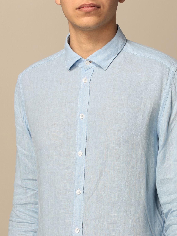 Camicia An American Tradition: Camicia Brooklyn BD Baggies in lino tinto capo celeste 3