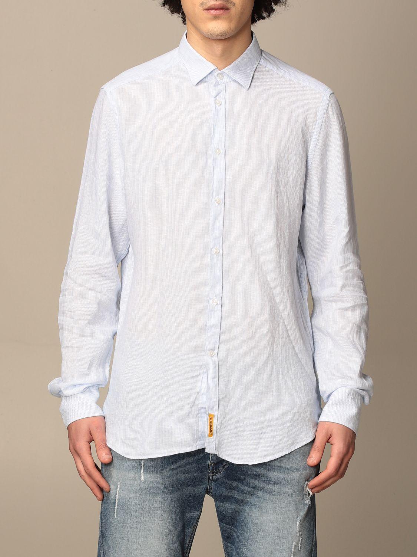 Shirt An American Tradition: Brooklyn BD Baggies linen shirt sky blue 1