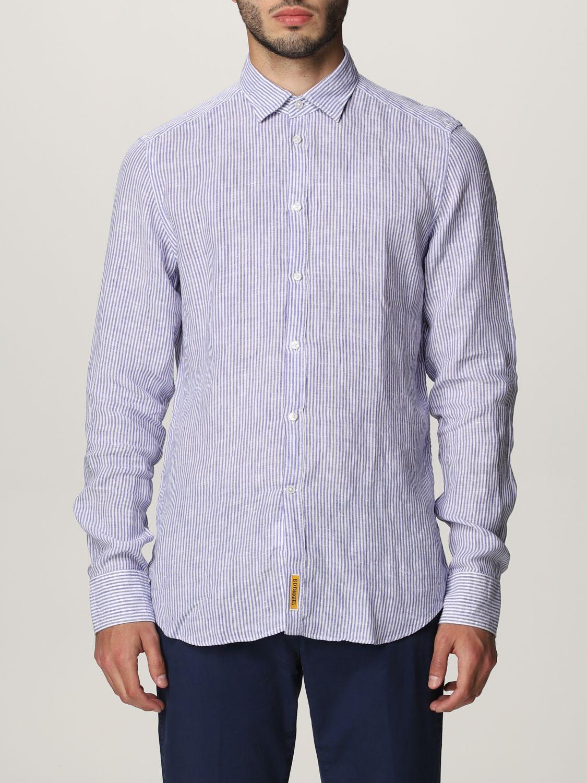 Shirt An American Tradition: Brooklyn BD Baggies linen shirt navy 1