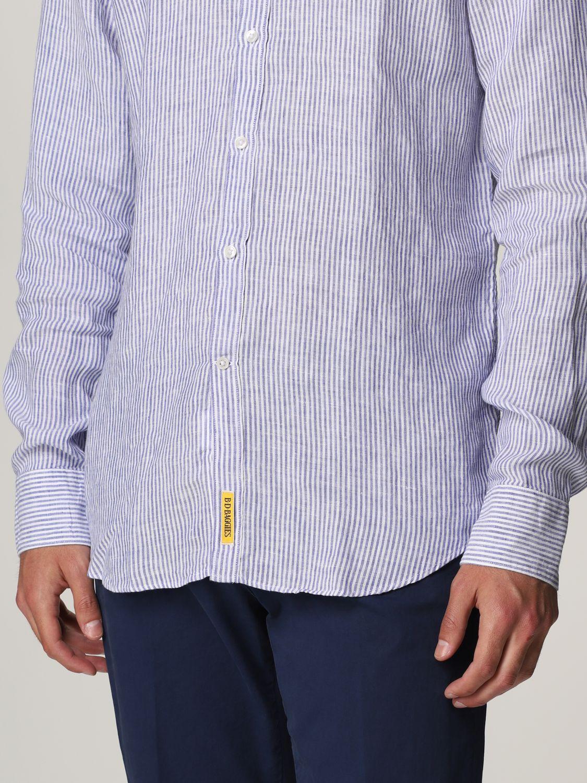 Shirt An American Tradition: Brooklyn BD Baggies linen shirt navy 3