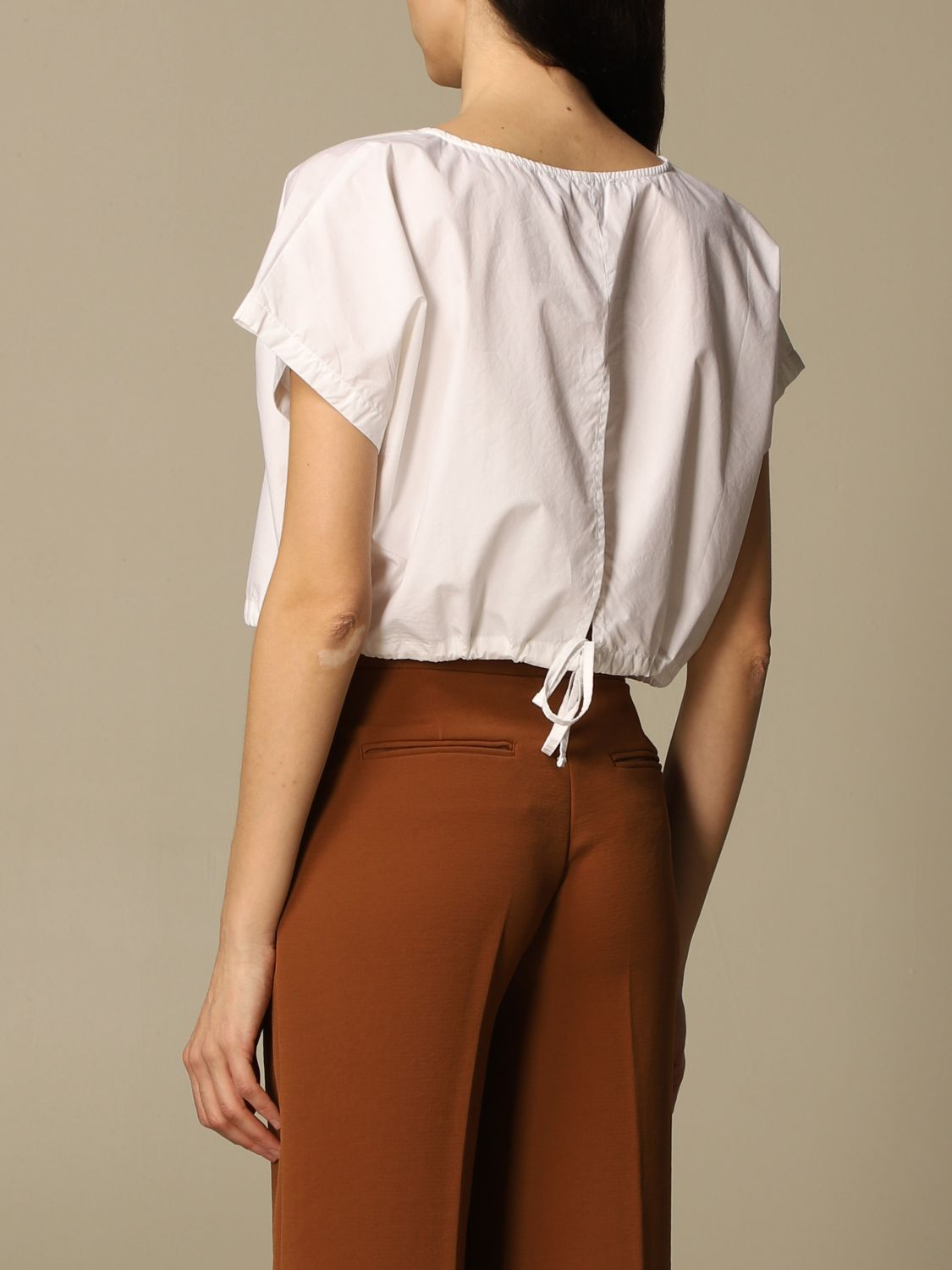 Top e Bluse Department 5: Top cropped Department Five in popeline bianco 2