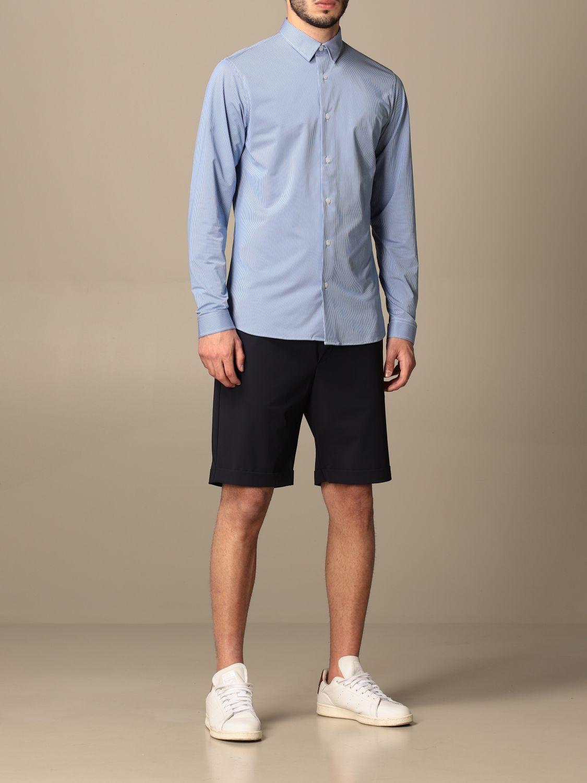 Рубашка Hydrogen: Рубашка Мужское Hydrogen синий 2