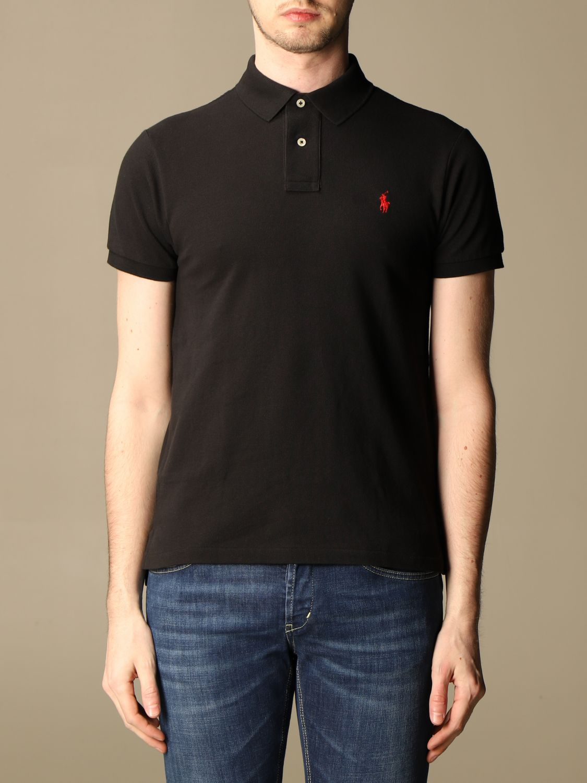 Polo Polo Ralph Lauren: Polo Polo Ralph Lauren in cotone slim fit nero 1