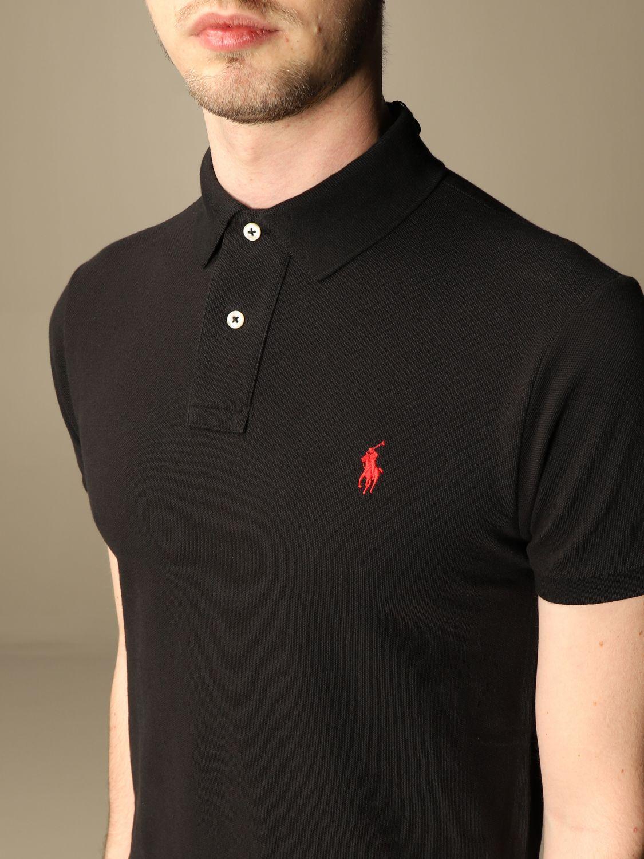 Polo Polo Ralph Lauren: Polo Polo Ralph Lauren in cotone slim fit nero 3