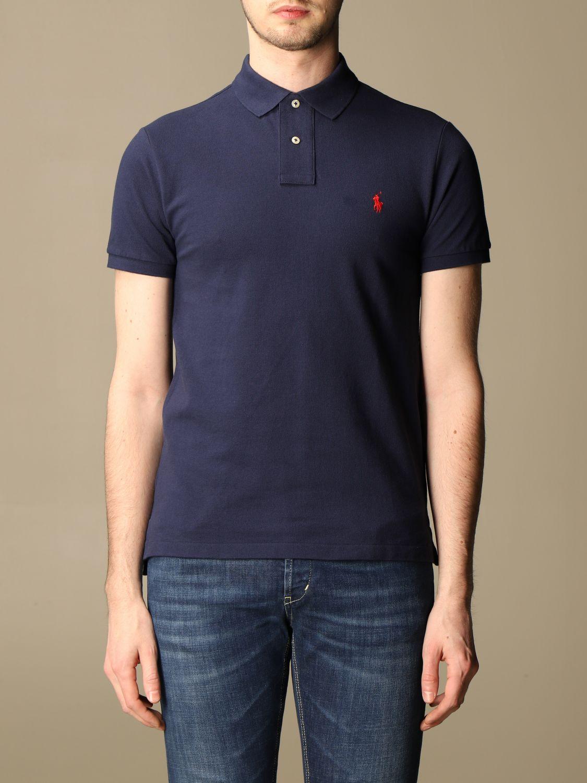 Polo Polo Ralph Lauren: Polo Polo Ralph Lauren in cotone slim fit blue 1