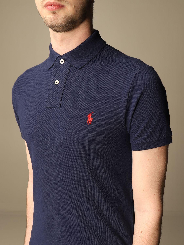 Polo Polo Ralph Lauren: Polo Polo Ralph Lauren in cotone slim fit blue 3