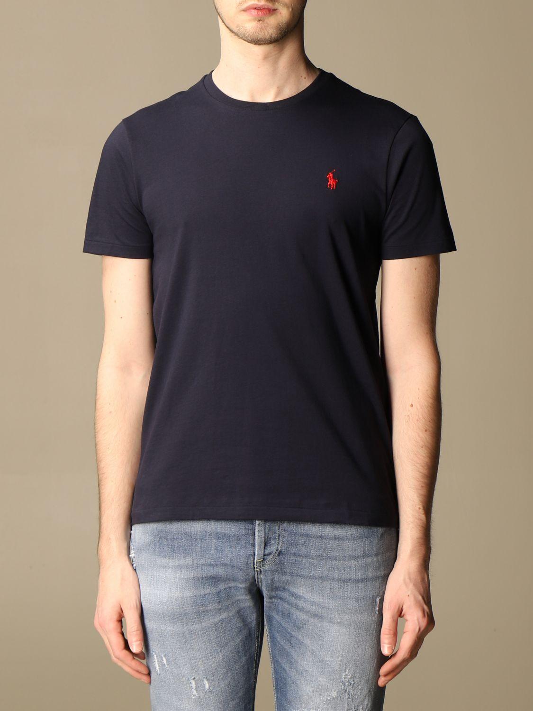 T-shirt Polo Ralph Lauren: T-shirt Polo Ralph Lauren in cotone con logo blue 1
