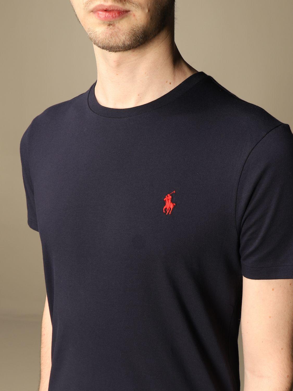 T-shirt Polo Ralph Lauren: T-shirt Polo Ralph Lauren in cotone con logo blue 3