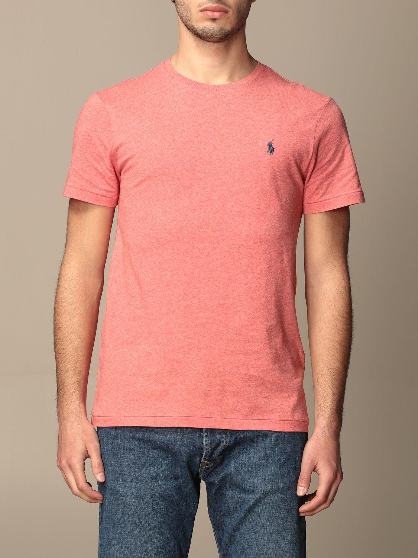 T-shirt Polo Ralph Lauren: T-shirt Polo Ralph Lauren in cotone con logo arancione 1