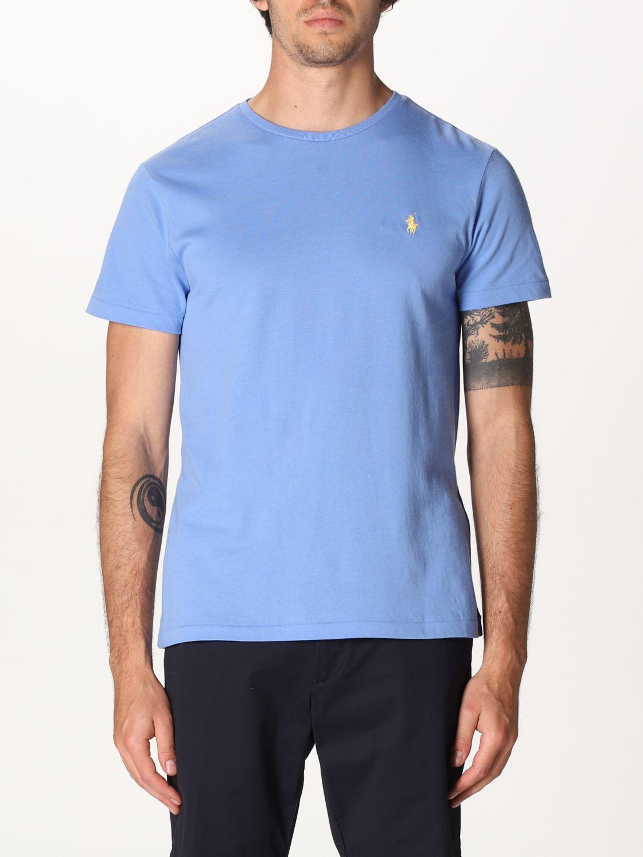 T-shirt Polo Ralph Lauren: Polo Ralph Lauren cotton t-shirt with logo sky blue 1