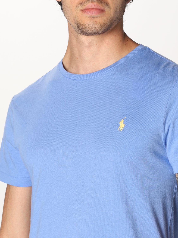 T-shirt Polo Ralph Lauren: Polo Ralph Lauren cotton t-shirt with logo sky blue 3
