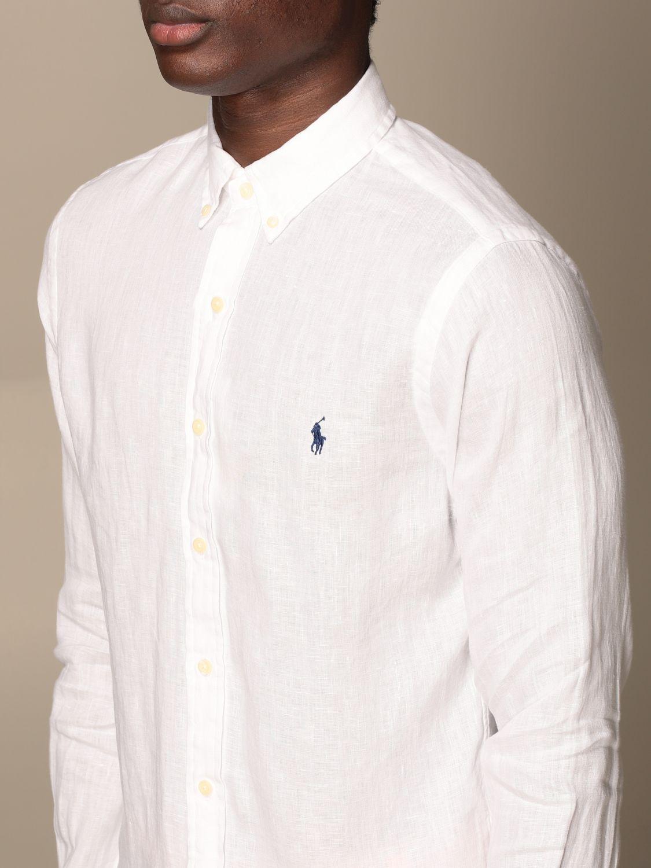 Shirt Polo Ralph Lauren: Polo Ralph Lauren linen shirt with button down collar white 3