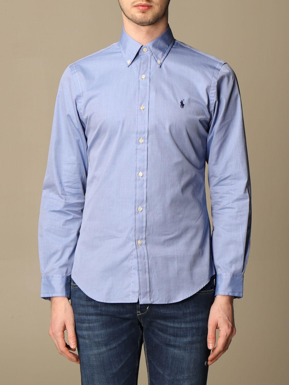 Shirt Polo Ralph Lauren: Polo Ralph Lauren shirt in cotton poplin blue 1