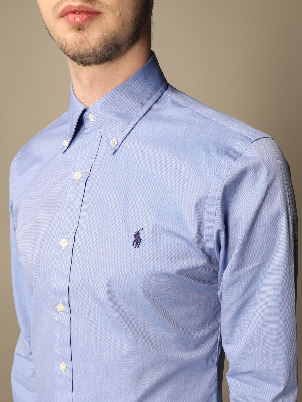 Shirt Polo Ralph Lauren: Polo Ralph Lauren shirt in cotton poplin blue 3