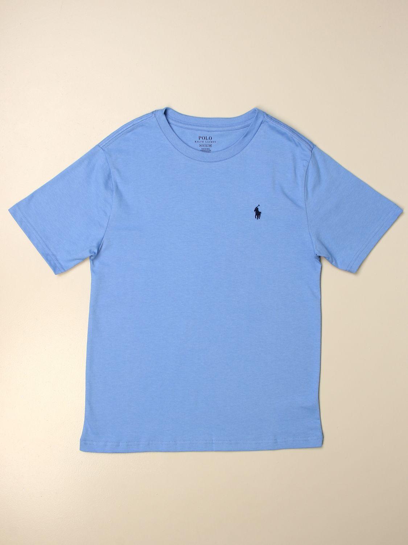 Футболка Polo Ralph Lauren Boy: Футболка Детское Polo Ralph Lauren Boy голубой 1