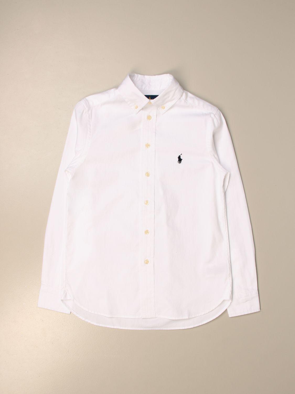 Рубашка Polo Ralph Lauren Boy: Рубашка Детское Polo Ralph Lauren Boy белый 1
