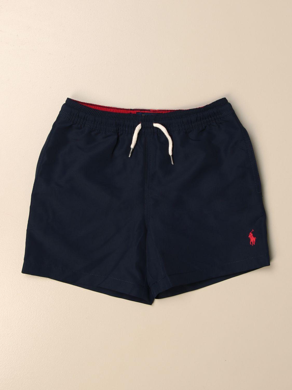 Swimsuit Polo Ralph Lauren Kid: Polo Ralph Lauren Kid boxer swimsuit with logo blue 1