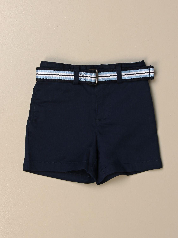 Pantaloncini Polo Ralph Lauren Infant: Pantaloncino Polo Ralph Lauren Infant in cotone con cinta a righe blue 1