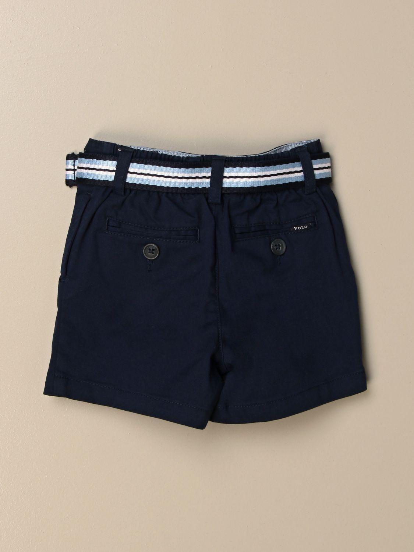 Pantaloncini Polo Ralph Lauren Infant: Pantaloncino Polo Ralph Lauren Infant in cotone con cinta a righe blue 2