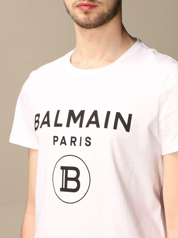 T-shirt Balmain: Balmain cotton t-shirt with logo white 5