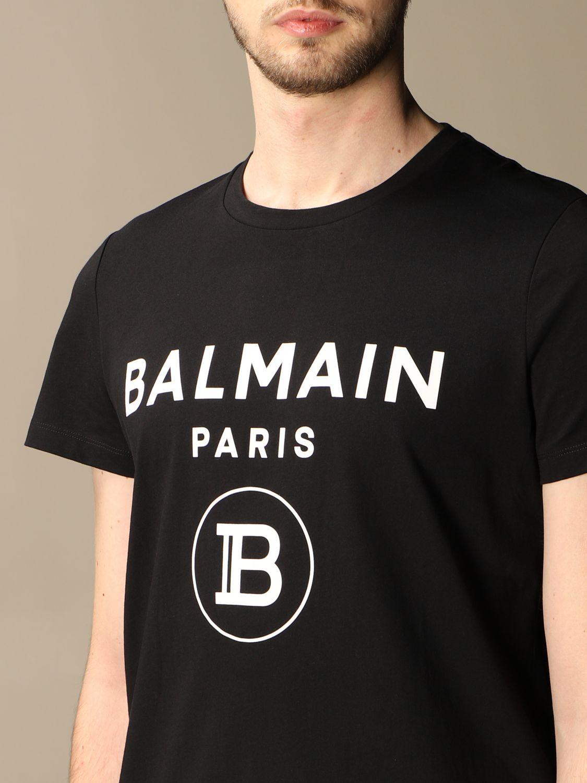 T-shirt Balmain: Balmain cotton t-shirt with logo black 5