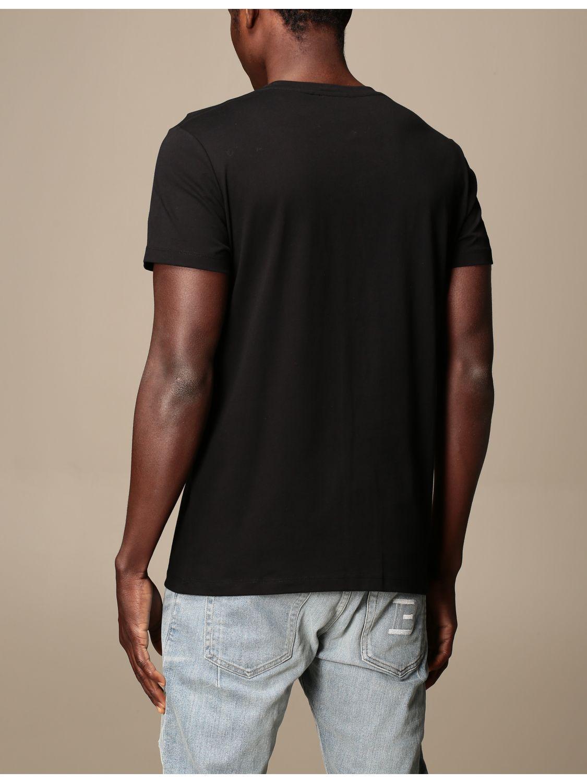 T-shirt Balmain: Balmain cotton T-shirt with logo and buttons black 3