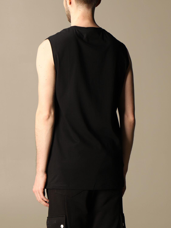 T-shirt Balmain: Balmain cotton tank top with flocked logo black 3